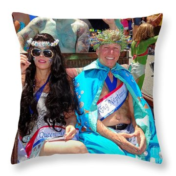 Throw Pillow featuring the photograph Queen Mermaid-king Neptune by Ed Weidman
