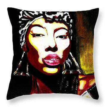 Queen Of Kings Throw Pillow