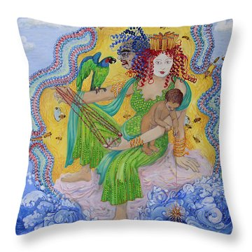 Queen Of Membranes 1 Throw Pillow
