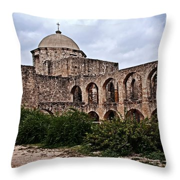 Queen Of Missions Throw Pillow by Andy Crawford