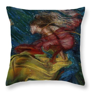 Queen Of The Angels Throw Pillow