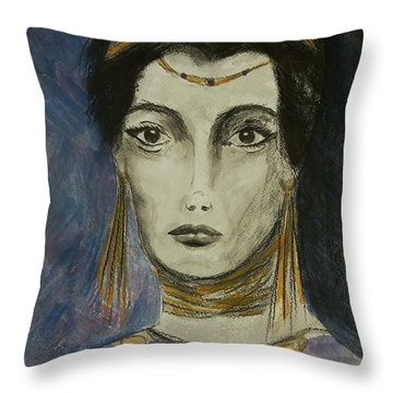 Queen Of The Nile Throw Pillow