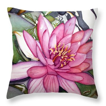 Queen Of The Pond Throw Pillow