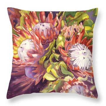 Queen Protea Throw Pillow