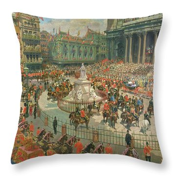 Queen Victorias Diamond Jubilee, 1897 Throw Pillow by G.S. Amato