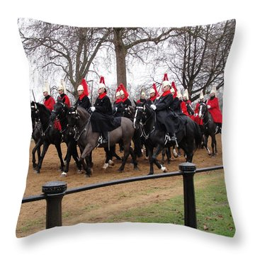 Throw Pillow featuring the photograph Queen's Guard by Tiffany Erdman