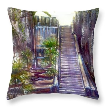Queen's Staircase Throw Pillow