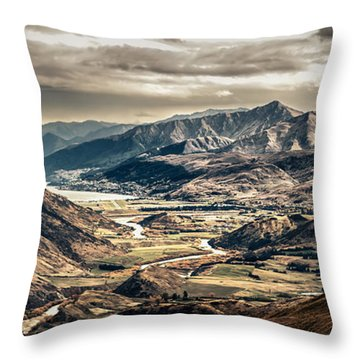 Throw Pillow featuring the photograph Queenstown View by Chris Cousins