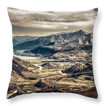 Queenstown View Throw Pillow