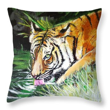 Quench Throw Pillow by Judy Kay