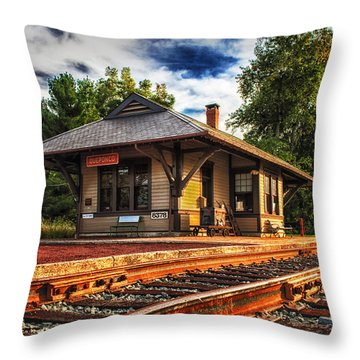 Queponco Railway Station Throw Pillow