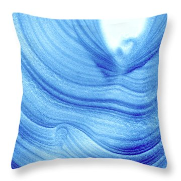 Query Blue 2 Throw Pillow