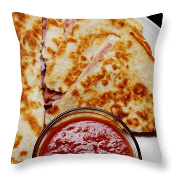 Quesadilla Throw Pillow by Andee Design