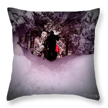 Throw Pillow featuring the photograph Quest For Powder by James Aiken