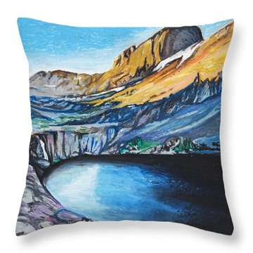 Quick Sketch - Kit Carson Peak Throw Pillow by Aaron Spong