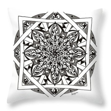 Quiddity Mandala Throw Pillow