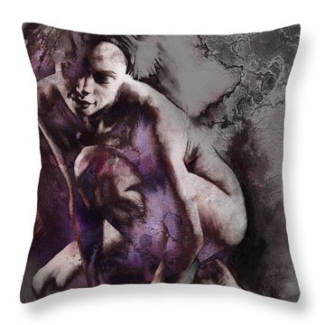 Quiescent With Texture Throw Pillow