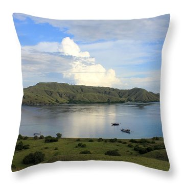 Quiet Bay Throw Pillow by Sergey Lukashin
