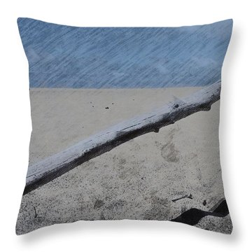 Throw Pillow featuring the photograph Quiet Beach by Photographic Arts And Design Studio