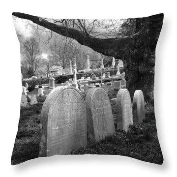 Quiet Cemetery Throw Pillow by Jennifer Ancker