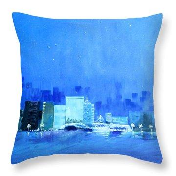 Quiet City Night Throw Pillow