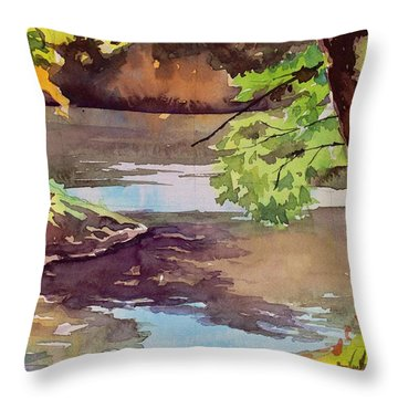Quiet Cove Throw Pillow by Spencer Meagher