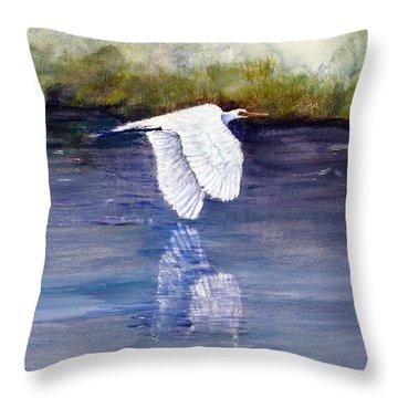 Quiet Flight Throw Pillow by Loretta Luglio