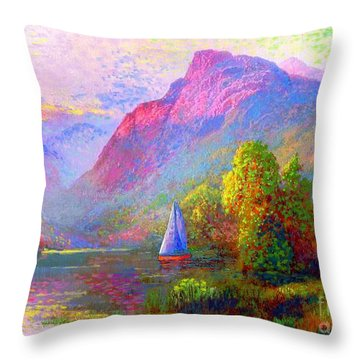 Sailing Into A Quiet Haven Throw Pillow