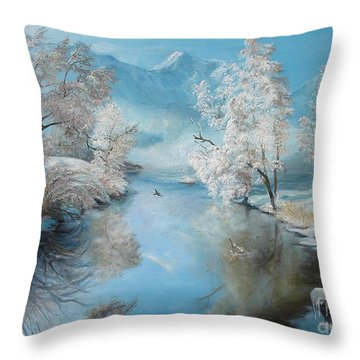 Quiet Ice  Throw Pillow by Sorin Apostolescu