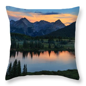 Quiet In The San Juans Throw Pillow by Rick Furmanek