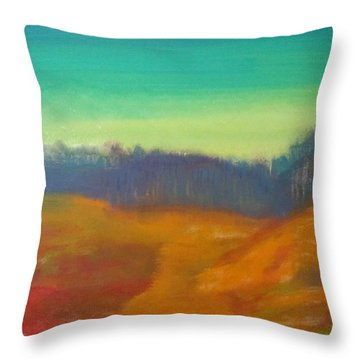 Throw Pillow featuring the painting Quiet by Keith Thue