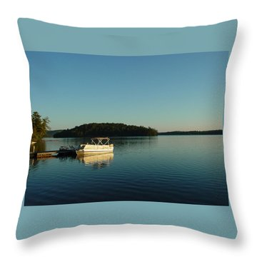 Throw Pillow featuring the photograph Quiet Lake by Dorothy Maier