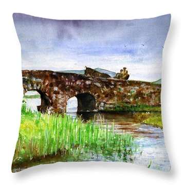 Quiet Man Bridge Ireland Throw Pillow