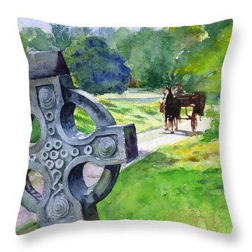 Quiet Man Watercolor 2 Throw Pillow