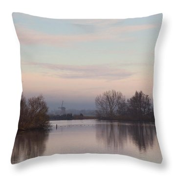 Quiet Morning Throw Pillow