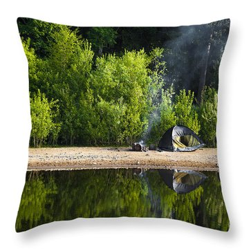 Quiet Morning Throw Pillow by Svetlana Sewell