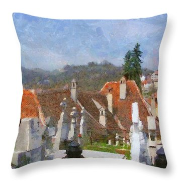 Quiet Neighbors Throw Pillow by Jeff Kolker