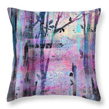 Quiet Place Throw Pillow by Rachel Christine Nowicki