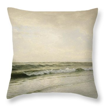 Quiet Seascape Throw Pillow by William Trost Richards