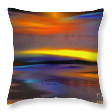 Soft Rain Throw Pillow