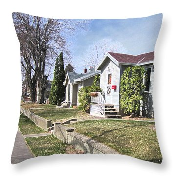 Quiet Street Waiting For Spring Throw Pillow