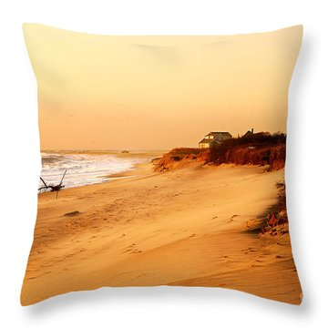Quiet Summer Sunset Throw Pillow by Sabine Jacobs