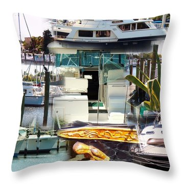 Quiet Time In The Bay Throw Pillow