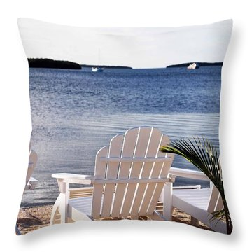 Quiet Time Throw Pillow by Judy Wolinsky