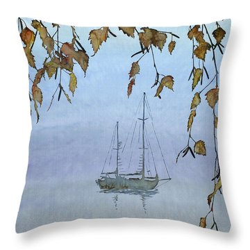 Quiet Water Throw Pillow