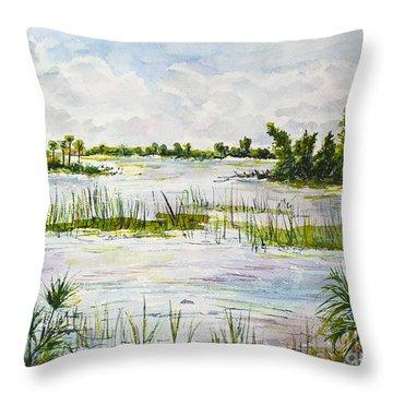 Quiet Waters Park Deerfield Beach Fl Throw Pillow