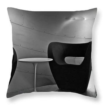 Quiet Zone Throw Pillow by Linda Bianic