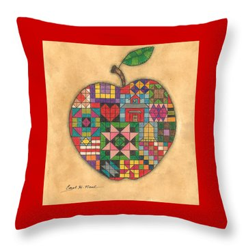 Quilted Apple Throw Pillow