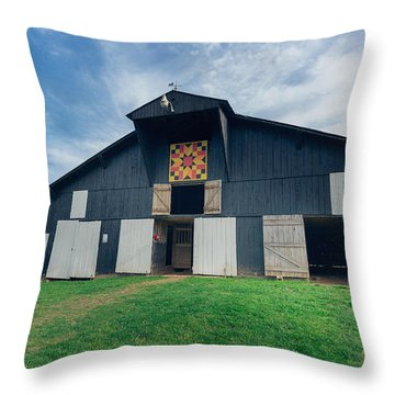 Quilted Barn Throw Pillow