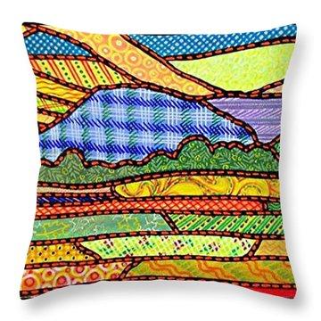 Quilted Massanutten Sunset Throw Pillow
